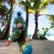 Tropic New Year, celebration on vacation. — Stock Photo