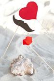 Valentine day decoration — Stock Photo