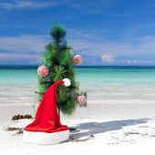 Celebration New Year on tropical beach — Stock Photo