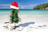 Celebration New Year on tropical beach — Stock fotografie