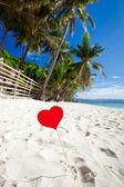 Romantic paradise on tropical beach — Stock Photo