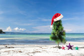 Celebration New Year on tropical beach — Stock Photo
