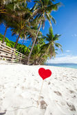 Paradis romantique sur la plage tropicale — Photo