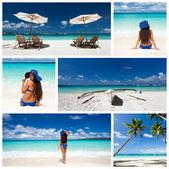 Karibiska collage — Stockfoto