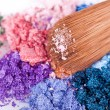 Stock Photo: Crumbled eyeshadows
