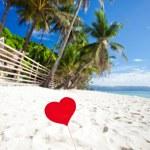 Romantic paradise on tropical beach — Stock Photo #39103253