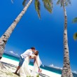Exotic tropical wedding — Stockfoto