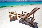 Tropical relax on white beach — Foto Stock