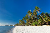 White sand beach on Boracay island — Stock Photo
