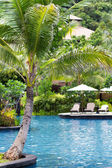 Swimming pool in luxury resort — Stock Photo