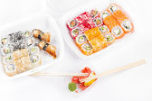 Sushi and roll assortment — Stock Photo