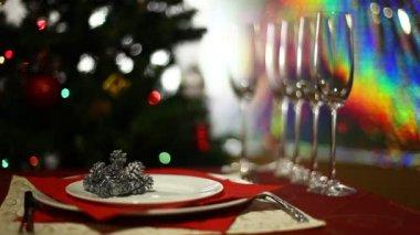 Weihnachtsfeier — Stockvideo