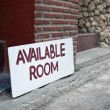 Available Room Sign on board — Stock Photo #42186011