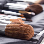 Professional make-up brushes — Stock Photo