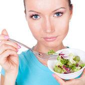 Happy vegetarian diet — Stock Photo