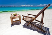Tropical relax on white beach — Стоковое фото