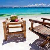 Tropical relax on white beach — Stock Photo