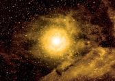 自由空間中の銀河 — ストック写真
