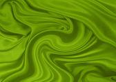 Green silk material — Stock Photo