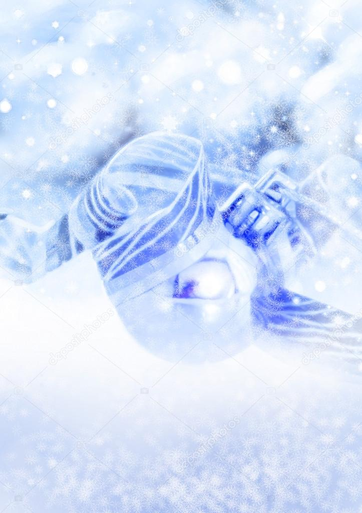 Background from snowflakes for a Christmas theme  Stock Photo #14046497