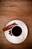 кофе и корицей — Стоковое фото
