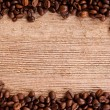 Coffee beans frame — Stockfoto