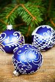Decorações de natal e pinheiro — Foto Stock