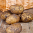 Stock Photo: Basket with fresh potatoes