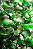 Glass pieces polished by the sea — Stock Photo