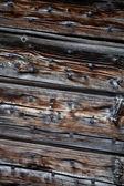 Old, grunge wood panels with nails — Stock Photo