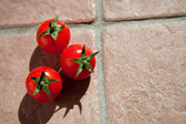три помидорами черри — Стоковое фото