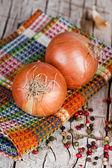 świeżej cebuli i pieprzu — Zdjęcie stockowe