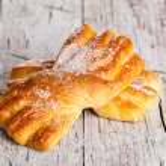 Fresh baked sugar buns — Stock Photo