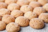 Meringue almond cookies — Stock Photo