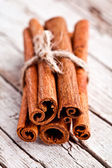 Stack of cinnamon sticks — Stock Photo