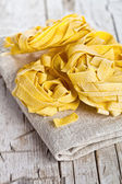 Raw egg pasta  — Stock Photo