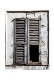 Window with old wood shutters — Stock Photo