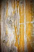 Painted old wooden yellow — Photo