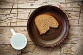 Chléb a voda — Stock fotografie