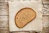 Plátek žitného chleba — Stock fotografie