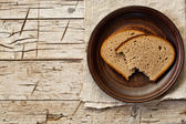 Rye bread in a plate — Stock Photo