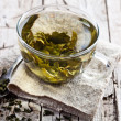 Cup of green tea — Stock Photo #46847375