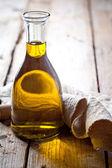 Fresh olive oil in bottle  — Stock Photo