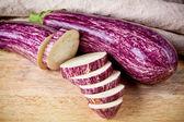 Two fresh eggplants  — 图库照片
