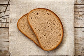 Slices in rye bread  — Stock Photo