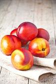 Fresh nectarines — Stock Photo