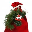 Bag of x-mas gifts — Stock Photo #7902035