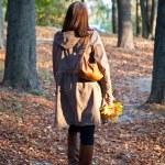 Woman in autumn park — Stock Photo #9297593