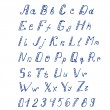 Handwritten ink alphabet — Stockvectorbeeld