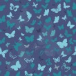 Stock Vector: Butterfly seamless background